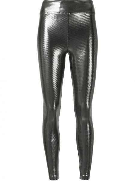 Czarne legginsy srebrne Koral