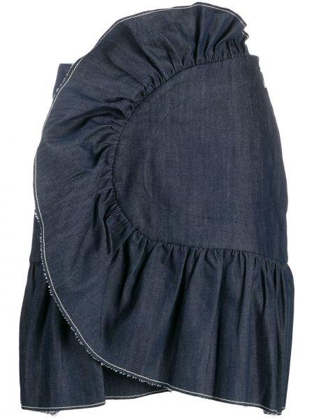 Джинсовая юбка на молнии с оборками Milla Milla
