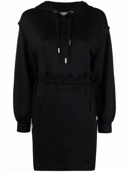 Черное платье с капюшоном Diesel