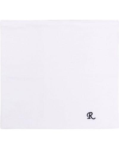 Biały szalik z haftem Raf Simons