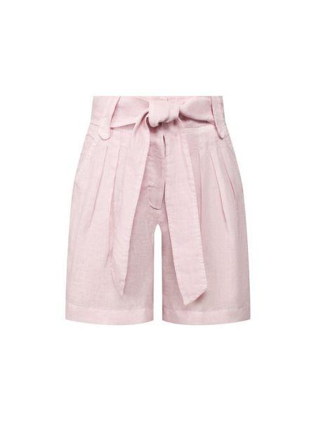 Льняные розовые шорты 120% Lino