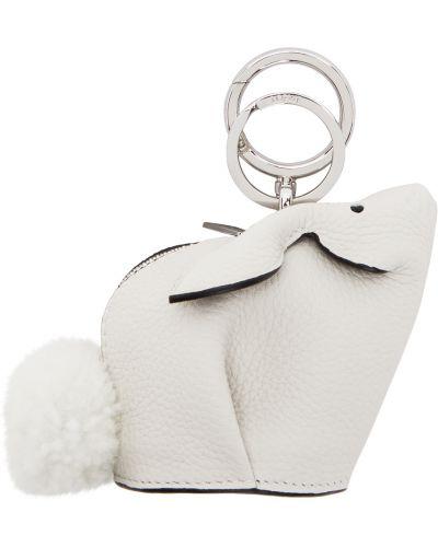 Charms srebrny - biały Loewe