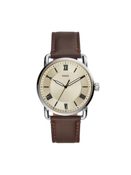 Zegarek srebrny - brązowy Fossil