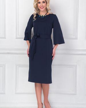 Платье с поясом платье-сарафан с цельнокроеным рукавом Bellovera