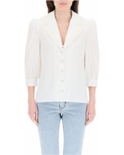 Biała koszula koronkowa Alessandra Rich