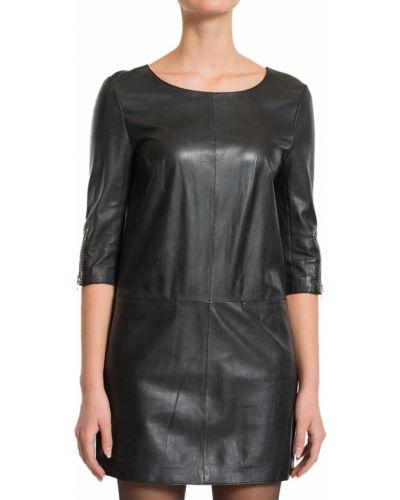 Кожаное платье - черное Hotel Particulier
