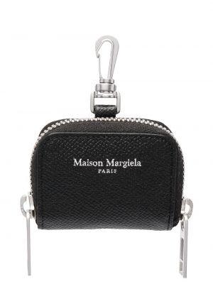 Серебряный кожаный кошелек для монет двусторонний Maison Margiela