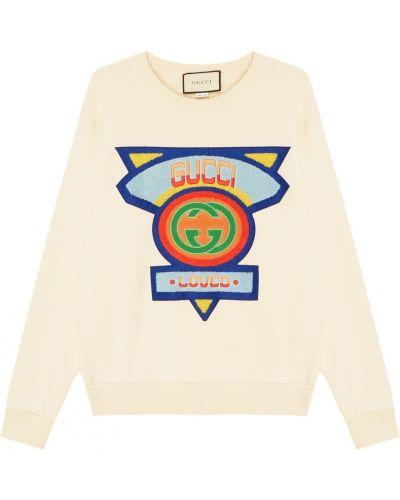 Худи с надписью с логотипом Gucci