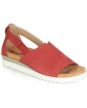 Czerwone sandały Romika