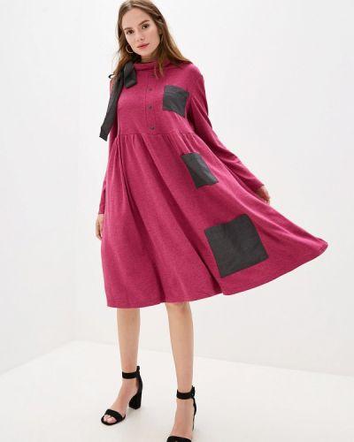 Платье розовое прямое Adzhedo