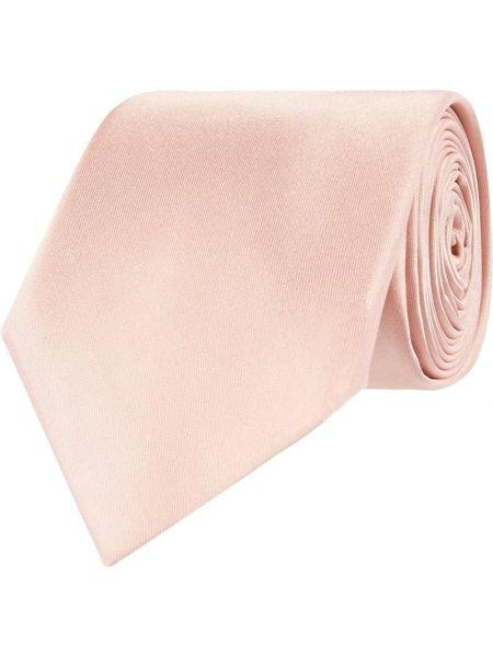 Klasyczny różowy krawat z jedwabiu Montego
