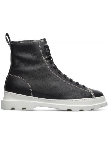 Czarne ankle boots skorzane miejskie Camper