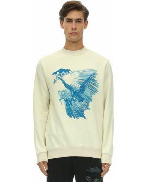 Biała bluza bawełniana z printem Triple Rrr
