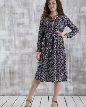 Повседневное платье на пуговицах с цветочным принтом Lautus