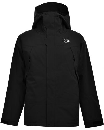 Czarna kurtka sportowa z kapturem bawełniana Karrimor