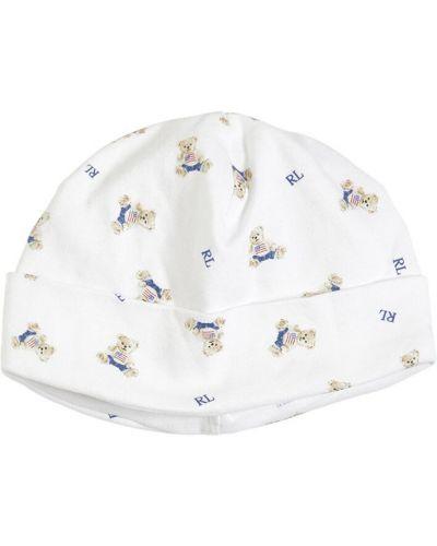 Bawełna bawełna biały kapelusz przycięte Ralph Lauren