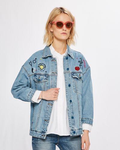Джинсовая куртка укороченная свободная Answear