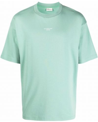 Zielona T-shirt z nadrukiem z printem Drole De Monsieur