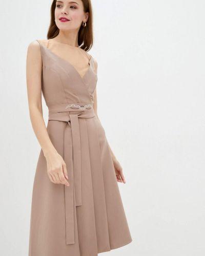 Бежевое вечернее платье Ricamare