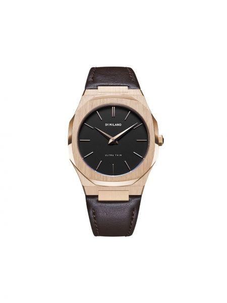 Часы с ремешком - коричневые D1 Milano