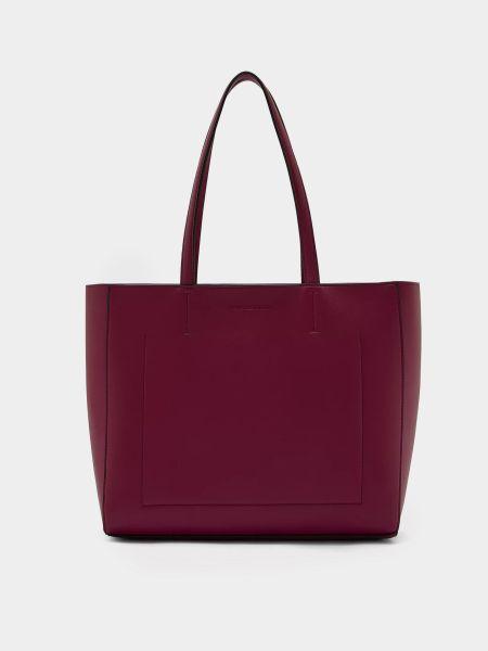Сумка шоппер - бордовая Calvin Klein