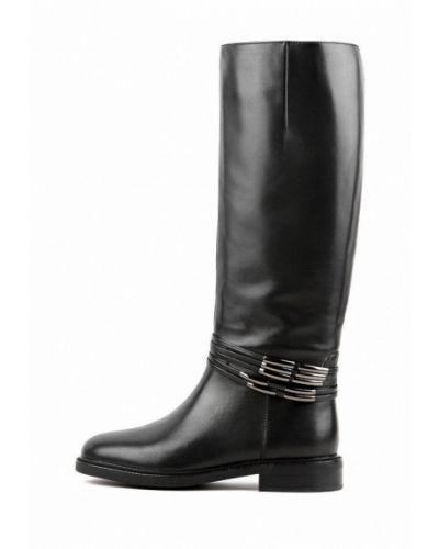 Черные кожаные сапоги Basconi