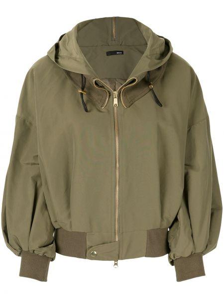 Куртка с капюшоном мятная с манжетами в рубчик Frei Ea