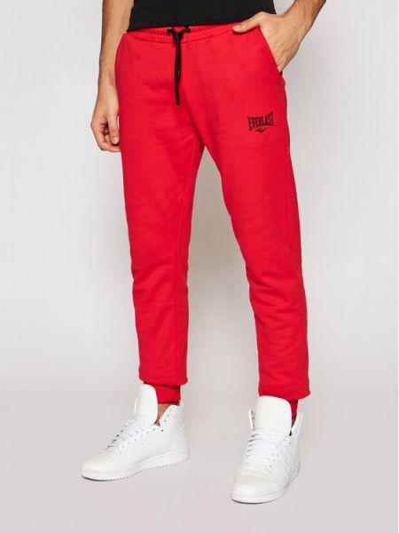 Czerwone spodnie dresowe Everlast