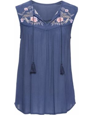 Блузка с коротким рукавом боди прозрачная Bonprix