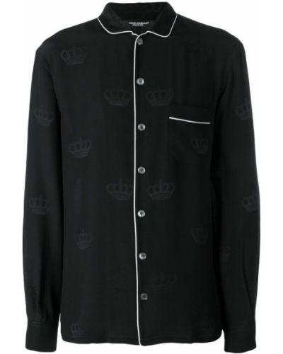 Топ черный с воротником Dolce & Gabbana
