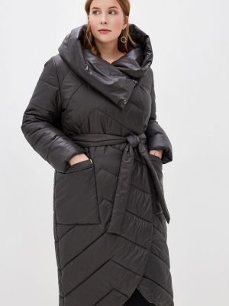 Теплая черная утепленная куртка симпатика