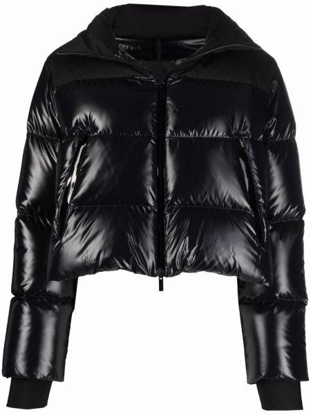 Черная длинная куртка Moncler