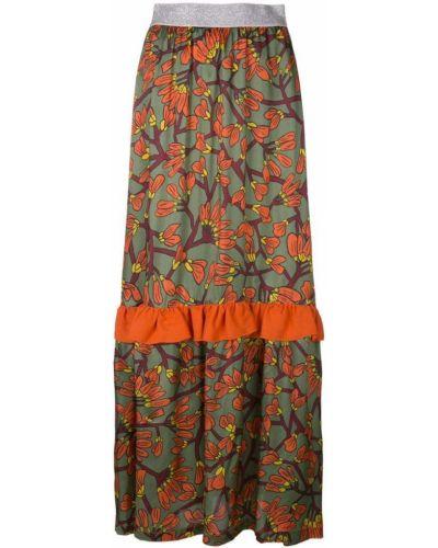 Ажурная юбка макси с оборками I'm Isola Marras
