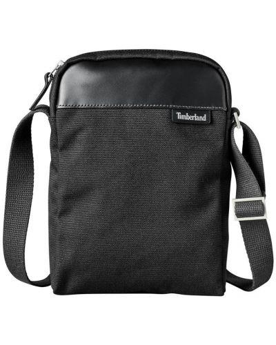Повседневная черная сумка через плечо из натуральной кожи Timberland