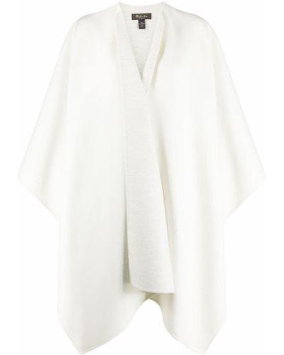 Z rękawami kaszmir asymetryczny biały peleryna Loro Piana