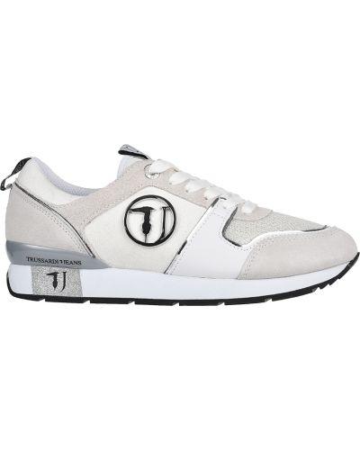 Кроссовки замшевые серые Trussardi Jeans