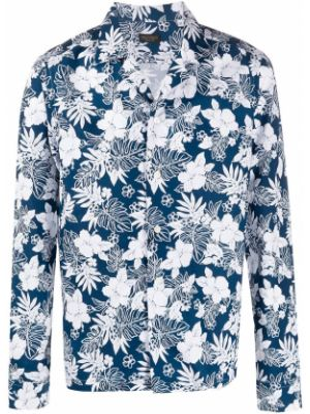 Koszula z długim rękawem długa z kołnierzem Dell'oglio