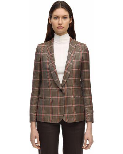 Коричневый пиджак с карманами из вискозы Lardini