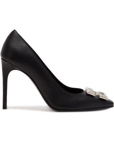 Кожаные туфли черные с пряжкой Off-white