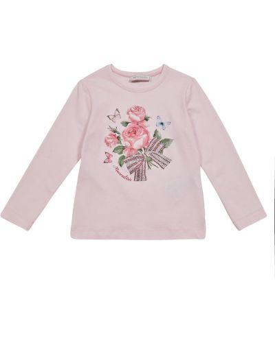 Лонгслив - розовая Monnalisa