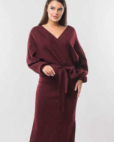 С рукавами вязаное вечернее платье с запахом Remix