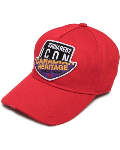 Z paskiem baseball bawełna czapka baseballowa Dsquared2