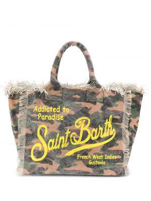 Пляжная пляжная сумка - зеленая Mc2 Saint Barth