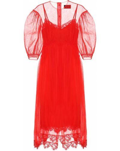 Платье миди из фатина Simone Rocha