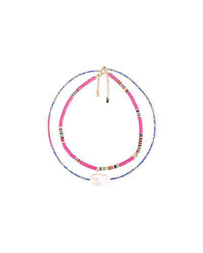 Ожерелье с жемчугом из бисера розовый Joolz By Martha Calvo