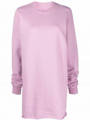 Флисовый свитшот - розовый Rick Owens Drkshdw