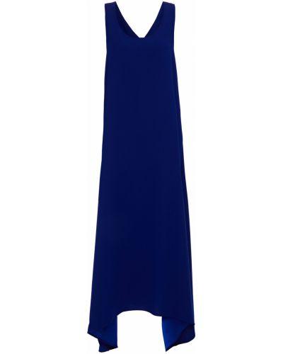 Синее платье миди с вырезом с карманами Paul Smith