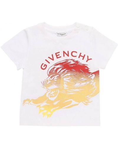 Трикотажная белая футболка на кнопках Givenchy