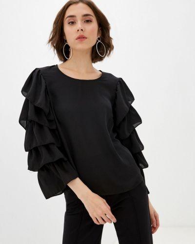 Черная блузка с длинными рукавами Imperial