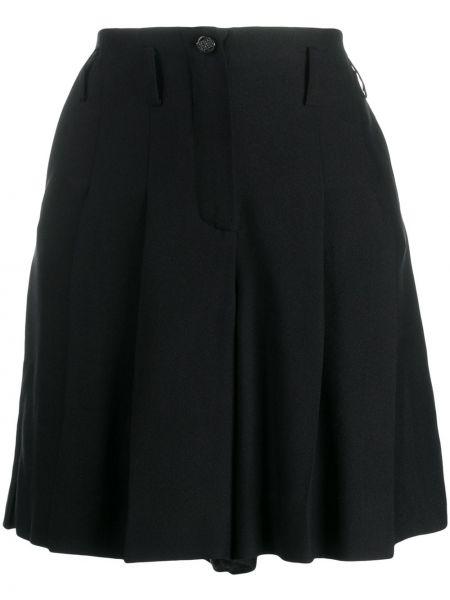 Шелковые черные шорты с поясом Chanel Pre-owned